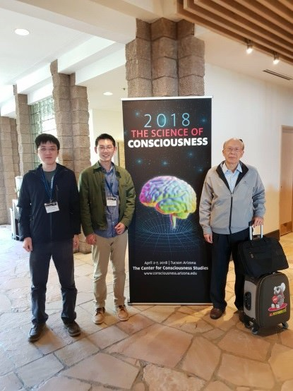 sclee and students at 2018 science consciousness conference